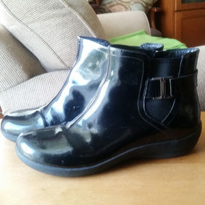 Clarks Ankle Boots Black Patent Leather